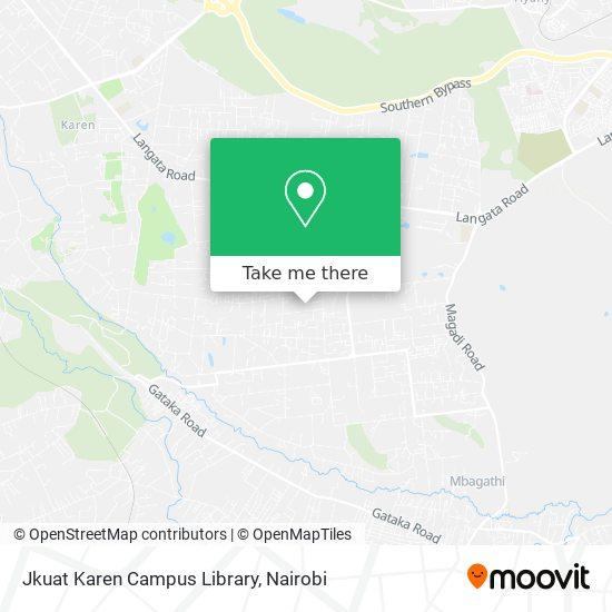 Jkuat Karen Campus Library map