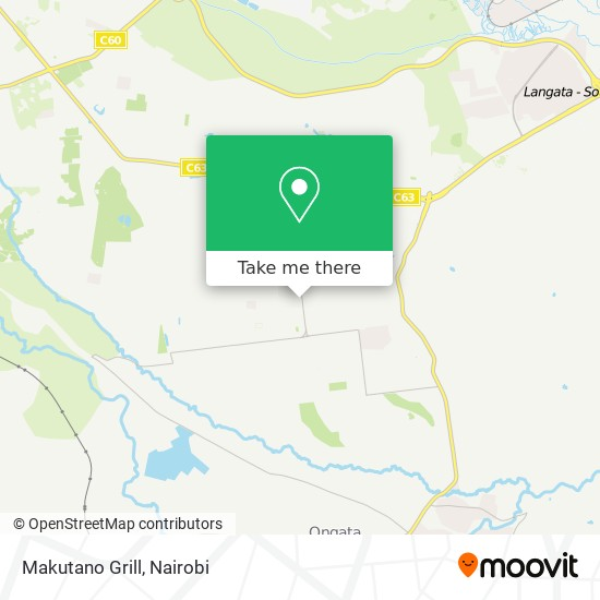 Makutano Grill map