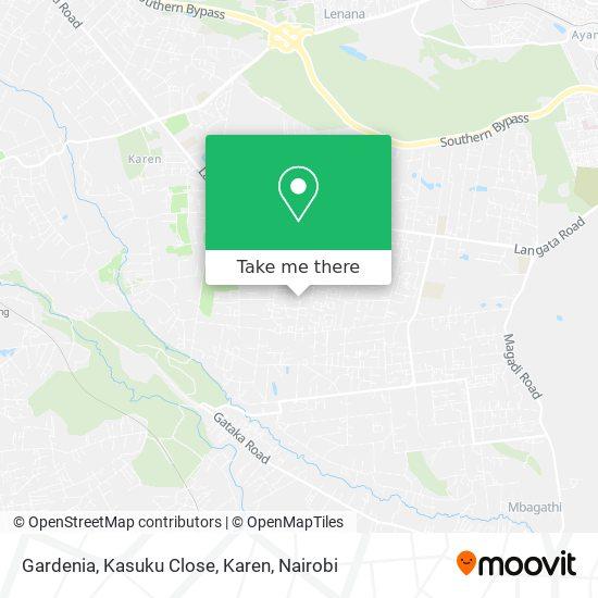 Gardenia, Kasuku Close, Karen map