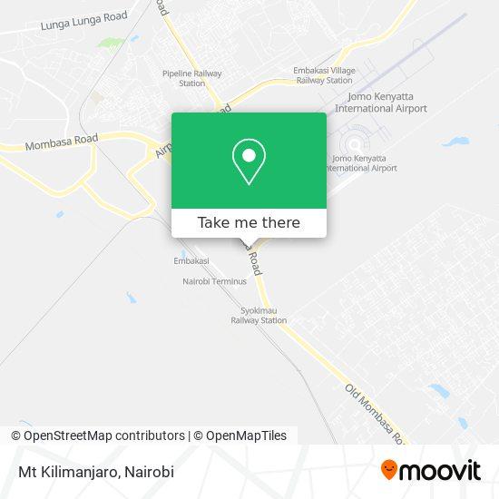 Mt Kilimanjaro map