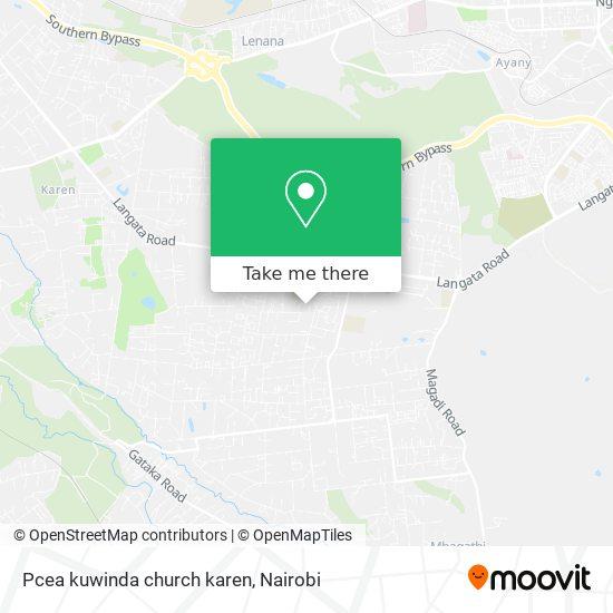 Pcea kuwinda church karen map