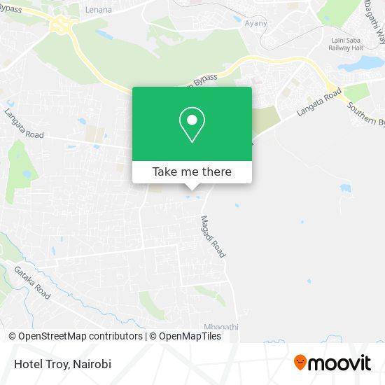 Hotel Troy map