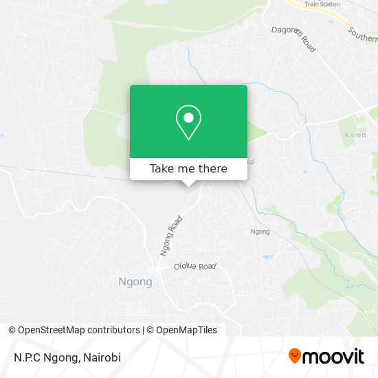 N.P.C Ngong map