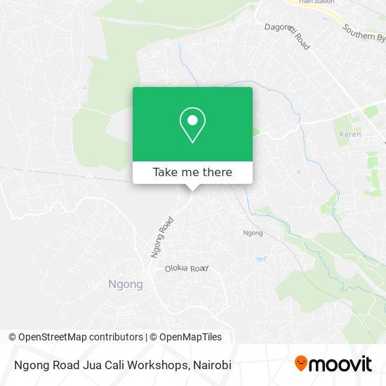 Ngong Road Jua Cali Workshops map
