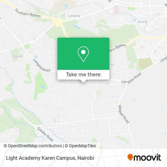 Light Academy Karen Campus map