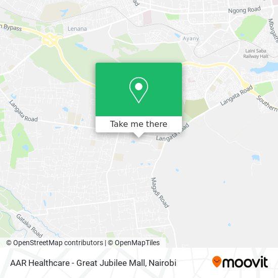 AAR Healthcare - Great Jubilee Mall map