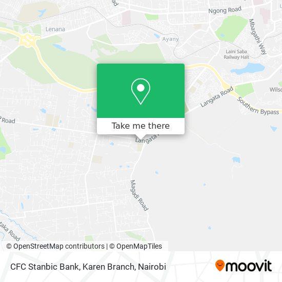 CFC Stanbic Bank, Karen Branch map