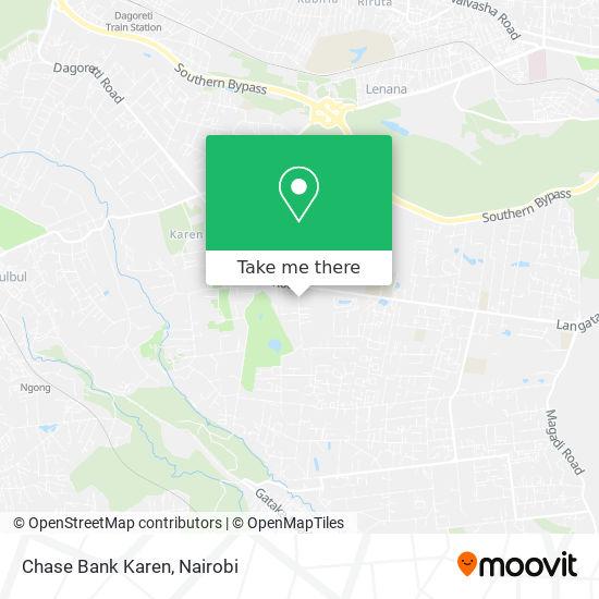 Chase Bank Karen map
