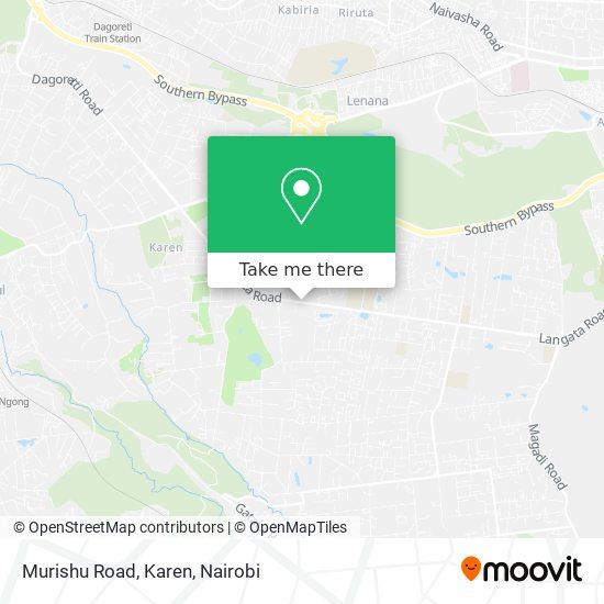 Murishu Road, Karen map