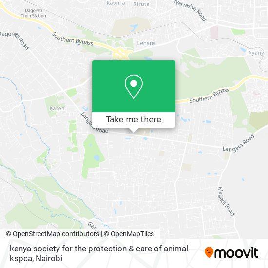 kenya society for the protection & care of animal kspca map