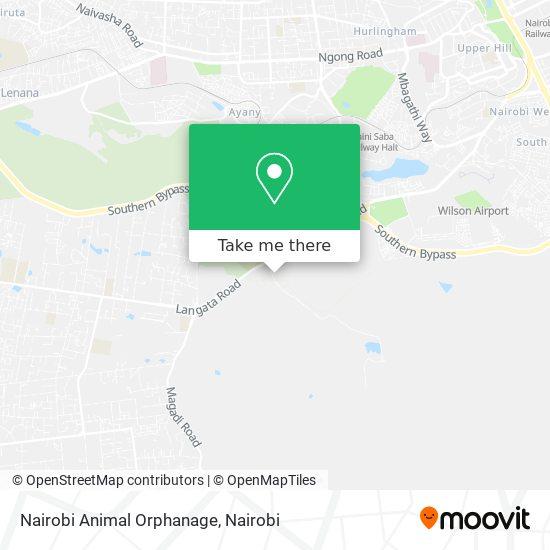 Nairobi Animal Orphanage map