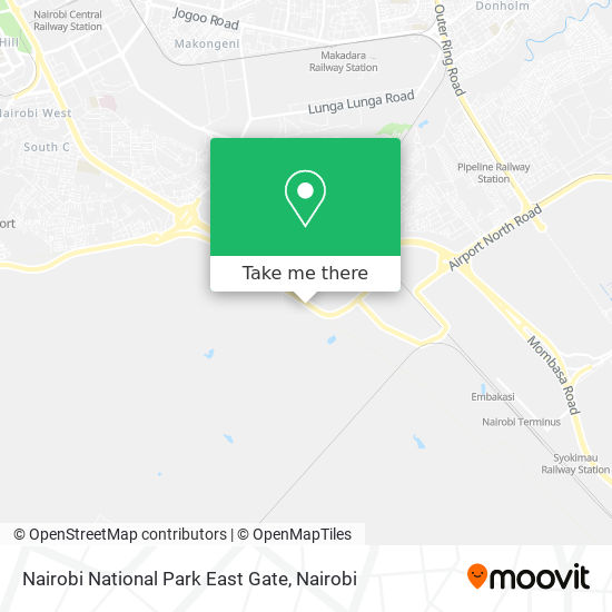 Nairobi National Park East Gate map