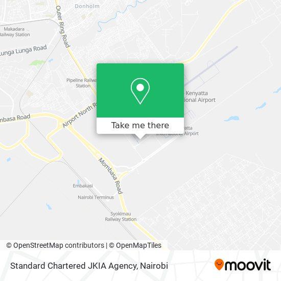 Standard Chartered JKIA Agency map