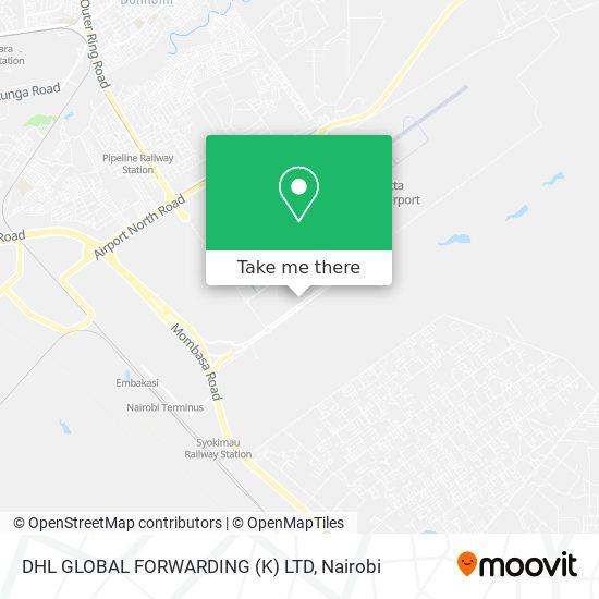 DHL GLOBAL FORWARDING (K) LTD map