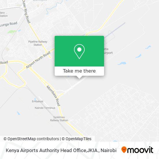 Kenya Airports Authority Head Office,JKIA. map