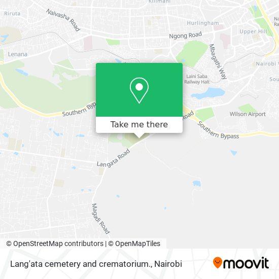 Lang'ata cemetery and crematorium. map