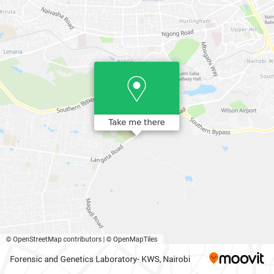 Forensic and Genetics Laboratory- KWS map