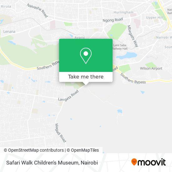 Safari Walk Children's Museum map