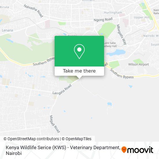 Kenya Wildlife Serice (KWS) - Veterinary Department map