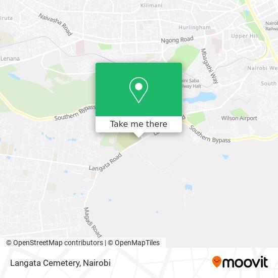 Langata Cemetery map