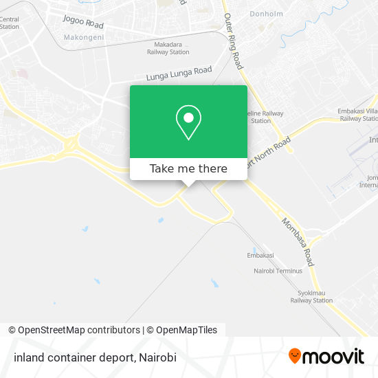 inland container deport map