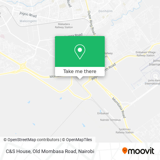 C&S House, Old Mombasa Road map