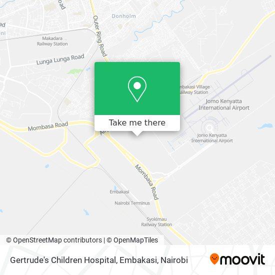Gertrude's Children Hospital, Embakasi map