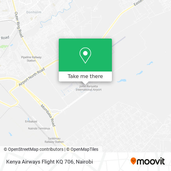 Kenya Airways Flight KQ 706 map