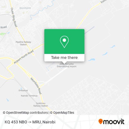KQ 453 NBO -> MRU map