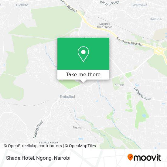 Shade Hotel, Ngong map