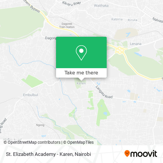 St. Elizabeth Academy - Karen map