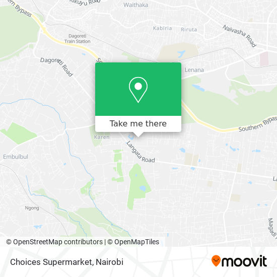 Choices Supermarket map