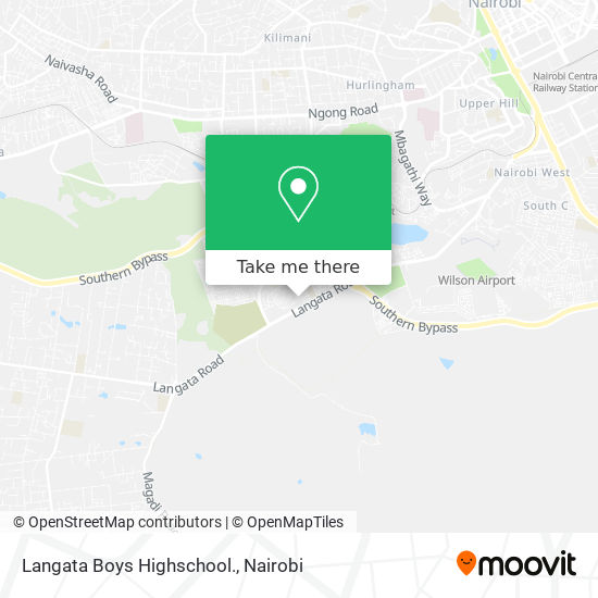 Langata Boys Highschool. map