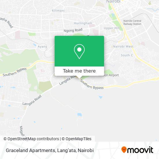 Graceland Apartments, Lang'ata map