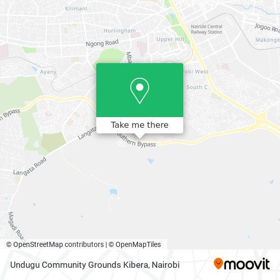 Undugu Community Grounds Kibera map