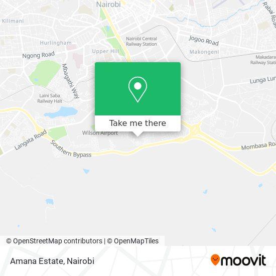 Amana Estate map
