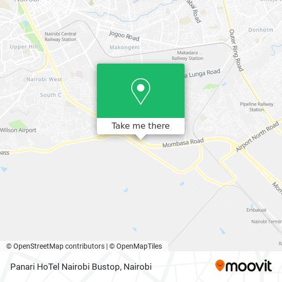 Panari HoTel Nairobi Bustop map