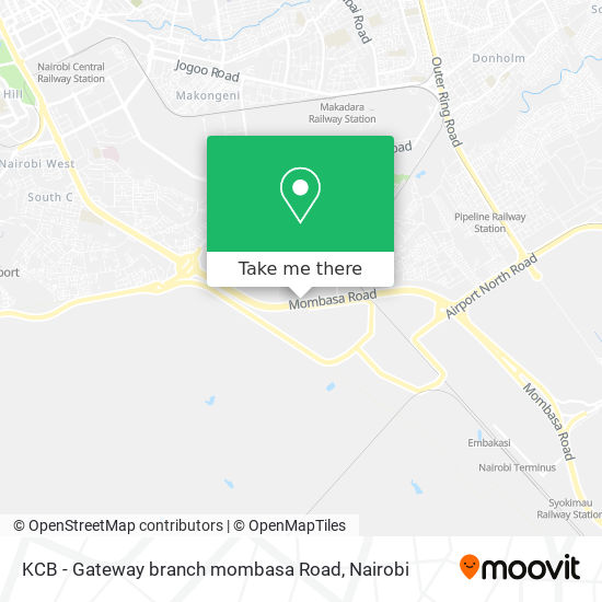 KCB - Gateway branch mombasa Road map