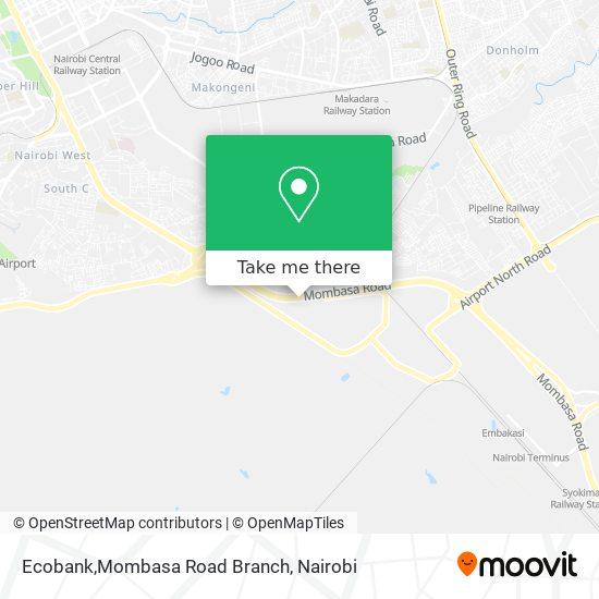 Ecobank,Mombasa Road Branch map