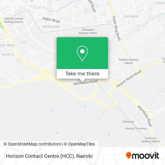 Horizon Contact Centre (HCC) map