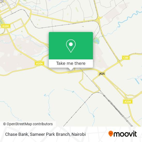 Chase Bank, Sameer Park Branch map