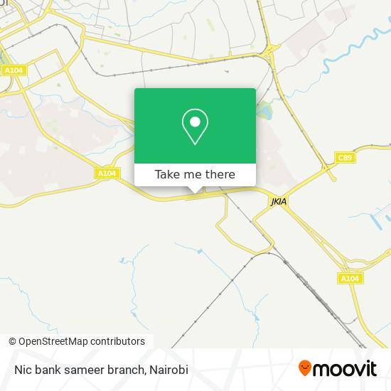 Nic bank sameer branch map