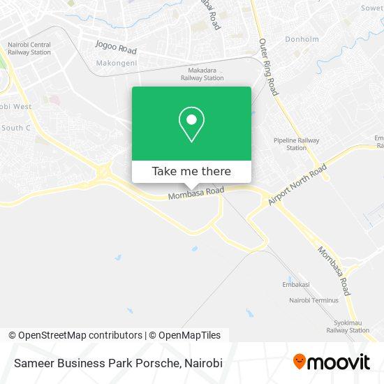 Sameer Business Park Porsche map