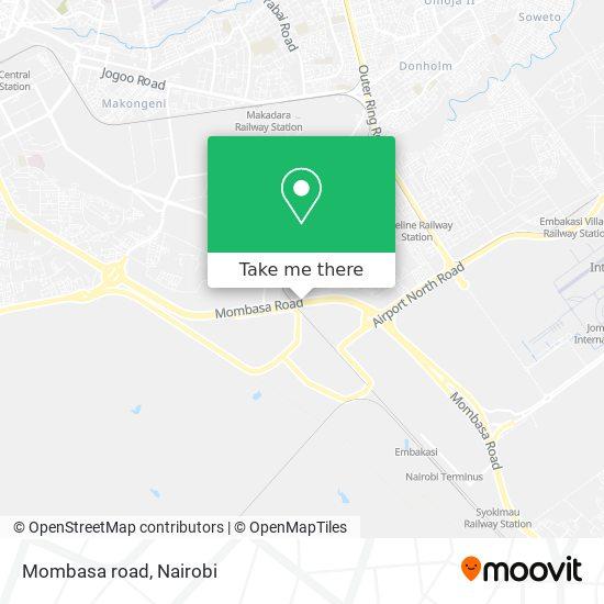 Mombasa road map