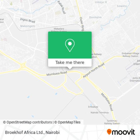 Broekhof Africa Ltd. map