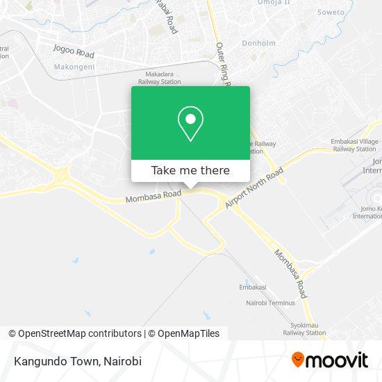 Kangundo Town map