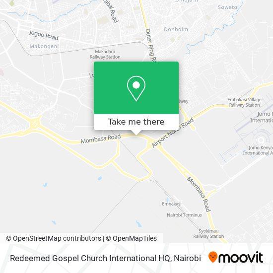 Redeemed Gospel Church International HQ map