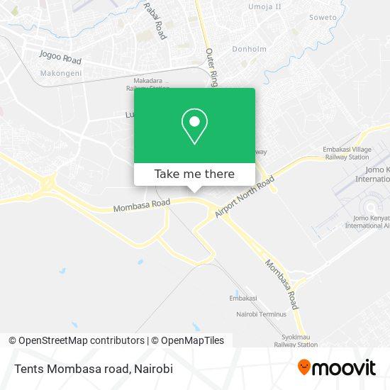 Tents Mombasa road map