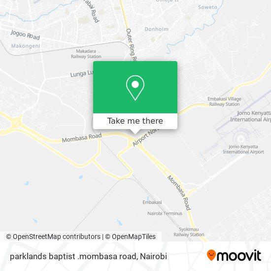 parklands baptist .mombasa road map