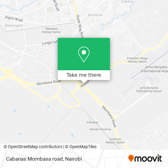 Cabanas Mombasa road map